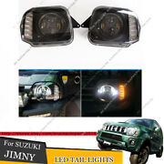 Led Drl Angel Eye Projector Head Lights For Suzuki Jimny Jb23/jb33/jb43/jb53 98+