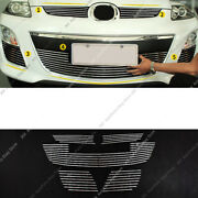 5pcs Metal Mesh Front Bumper Middle Grille Grill Trim For Mazda Cx-7 2010-12