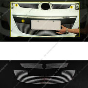3pcs Metal Mesh Front Bumper Lower+middle Grille Grill For Mazda Cx-7 2010-12