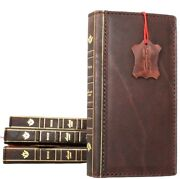 Genuine Leather Case For Iphone 8 Plus Cards Cover Bible Design Slim Wallet Book