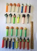 26 Halloween Pez Candy Dispensers With Feet-glow In The Dark And Others.  3404