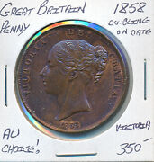 Great Britain Penny 1858 Doubling On Date Victoria - Au Choice