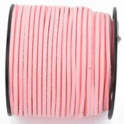 90m Spool Of Faux Suede Lacing Cord, Light Pink 3mm X 1.5mm Cor0152