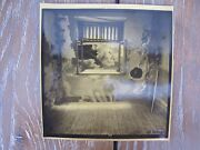 Jan Saudek Kissing In Front Of Window, Rare Signed, Photograph