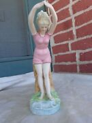 Vintage Germany Lady Diving Bathing Beauty Bisque Figurine Old Estate