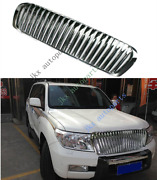 For Toyota Land Cruiser Lc200 Fj200 4000 08-15 Silver Front Grille Modified
