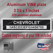 Serial Vin Plate - Chevrolet Compatible - Custom Engraving Of Your Included