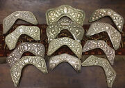 Collection Of 12 19th Century Spanish Colonial Silver Cooper Saddle Decorations