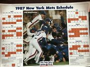 1987 New York Mets Inside Pitch Team Schedule 16x22 Poster Rare