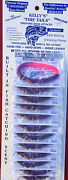 Kellyand039s Firetail Worm Full Card Rubber Worms 12 Purple Firetail Ft