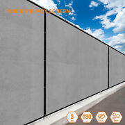 Light Gray 7' Ft Fence Windscreen Privacy Screen Shade Cover Fabric Mesh Garden