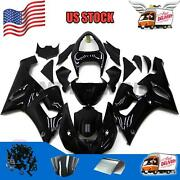 Injection Black Abs Plastic Fairing Fit For Kawasaki 2005-2006 Zx6r 636 Set I02