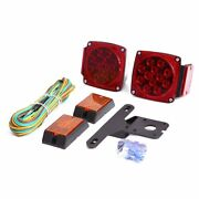 Czc Auto 12v Led Submersible Trailer Tail Light Kit For Under 80 Inch Boat Trail