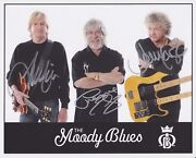 The Moody Blues Fully Hand Signed 8x10 Photo Autograph Justin Hayward Lodge +1 C
