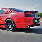 Project 6gr Seven 20x10/11 Satin Black Concave Wheels For S197 Mustang Gt V6