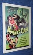 The Mummy's Curse Universal Studios Theme Park Ride Prop Poster Monsters/movie