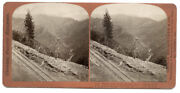 C.1860and039s Stereoview Sv - Houseworth - Middle Fork American River C.p. Railroad