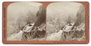 C.1860and039s Stereoview Sv - Houseworth - Cape Horn Altitude 3500 Ft C.p. Railroad