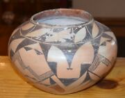 Superb Early 1900's Handcoiled Old Acoma Pueblo Olla Free Shipping