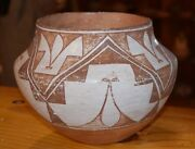 Superb Early/mid 1900's Handcoiled Old Acoma Pueblo Olla Free Shipping