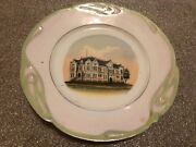 Old Souvenir China Plate Shelby County Courthouse Harlan Iowa Ia
