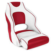 Leader Accessories Two Tone Captainand039s Bucket Seat White/redred Piping