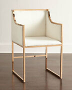 Wren Dining Chair Brass-plated Iron Frame Nylon Upholstery Neiman Marcus Horchow