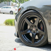 Project 6gr Five 19x10/11 Satin Black Concave Wheels For S197 Mustang Gt V6