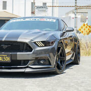 Project 6gr Five 20x10/11 Satin Black Concave Wheels For S197 Mustang Gt V6