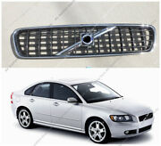 Chrome Vent Hood Front Bumper Center Grille Grill Fit For Volvo S40 V50 04-07