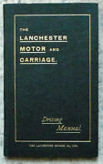 Lanchester Motor And Carriage Driving Manual Part Ii 1903