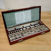 Starrett And Pandw 88 Piece Square Gage Block Set, 0.5 To 100mm - Used