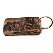 Vintage 80's Jack Daniels Leather Key Ring Chain