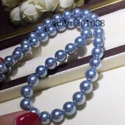 Genuine South Sea Akoya Silver Gray Pearl Necklace 7.5-8.5mm Aaa++