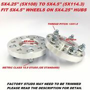 2pc 13/16 Wheel Adapters 5x108 To 5x114.3 5x4.25 To 5x4.5 Hubcentric Spacers