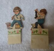 2 Antique 1921 Christmas Xmas Candy Fold Out Containers Intand039l Art Pub Co Die Cut