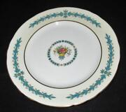 Aynsley Turquoise Cambridge Scalloped Rim Lunch Luncheon Plate 9 1/4
