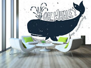 3d Whale Cartoon 45 Wall Paper Wall Print Decal Wall Deco Indoor Wall Murals