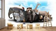 3d Cute Animals Group 5 Wall Paper Wall Print Decal Wall Deco Indoor Mural Lemon