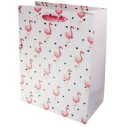 Quality Card Pink Flamingo Hearts Birthday Party Gift Present Bag 33 Cm Large