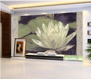 3d White Lotus Pond 53 Wall Paper Wall Print Decal Wall Deco Indoor Mural Lemon