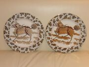 Masonand039s Ironstone Vintage Chinese Dragon Dinner Plates Numbered 6100 A10