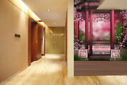 3d Pink Gazebo Flowers 53 Wall Paper Wall Print Decal Wall Deco Indoor Mural