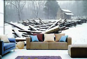 3d Snow Wood Chalet 6 Wall Paper Wall Print Decal Wall Deco Indoor Mural Sunmer