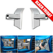 Front Bumper Headlight And Grille Chrome Cover Trim For 15+ Ford F150 Accessories