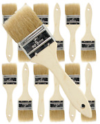 12 Pk- 2 Inch Chip Paint Brushes For Paint Stainsvarnishesgluesgesso