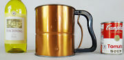 Copper Flour Sifter Large Vintage Androck Sifter Hand Usa Baking Pan Roller Pin