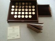 31 Coins In 24k Gold On 1oz Silver Johannes Vermeer Rare Collectable Medals