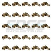 25 Pieces 1/4 Hose Barb Elbow X 1/4 Male Npt Brass Pipe Fitting Gas Fuel Water