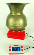No Ding Dents Union Pacific Railroad Spittoon Brass Vintage Train Station Weight